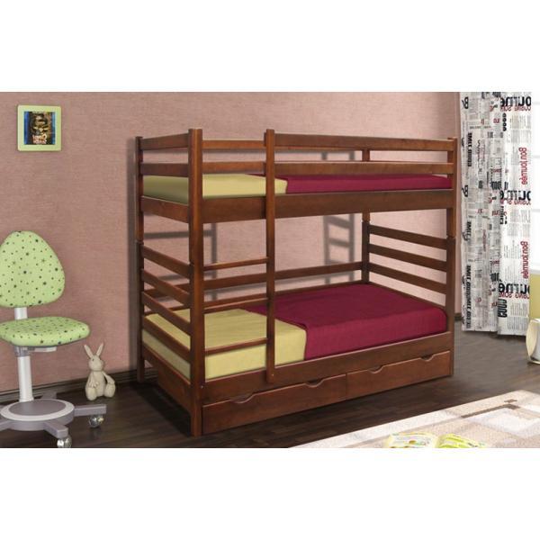 Деревянная кровать Засоня Микс Мебель двухъярусная